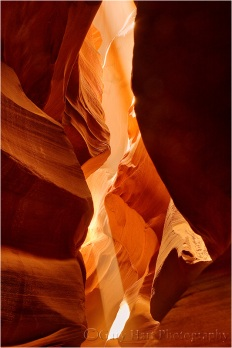 Gary Hart Photography, Twin Beams, Upper Antelope Canyon, Arizona