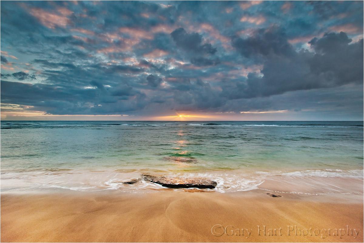 Tropical Sunset, Ke'e Beach, Kauai, Hawaii