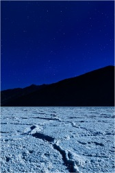 Moonlight and Big Dipper, Badwater, Death Valley