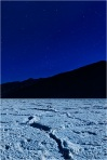 Moonlight, Big Dipper and Badwater, Death Valley