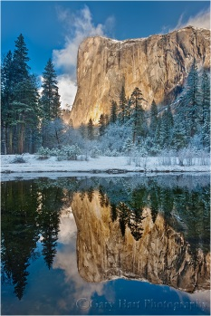 Reflection, El Capitan winter morning, Yosemite