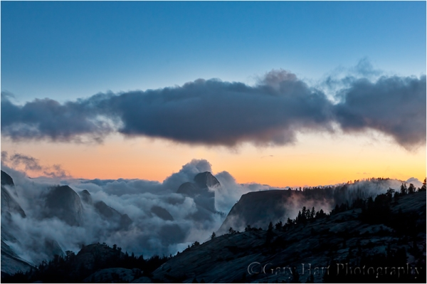 From the Clouds, Half Dome from Olmsted Point, Yosemite