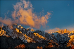Winter Sunrise, Lone Pine Peak and Mt. Whitney
