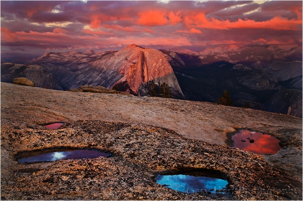Sunset Reflection, Half Dome from Sentinel Dome, Yosemite