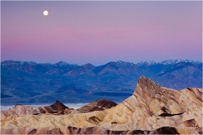 Sunrise Moonset, Zabriskie Point, Death Valley