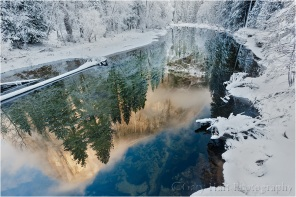 Winter Reflection, El Capitan reflected in the Merced River, Yosemite
