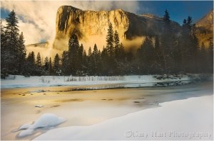 Winter Sunset, El Capitan, Yosemite