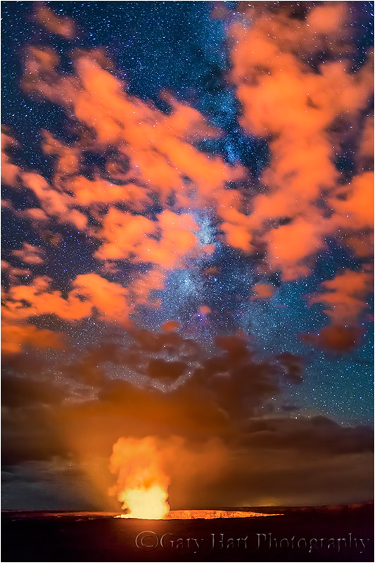 Milky Way and Clouds, Kilauea Caldera, Hawaii