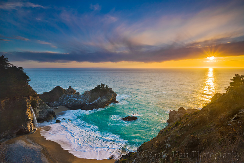 Sunset, McWay Fall, Julia Pfieffer Burns State Park (Big Sur)