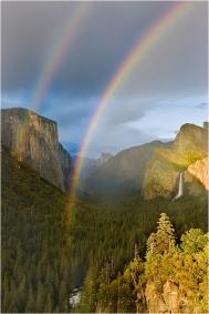 Double Rainbow, Tunnel View, Yosemite