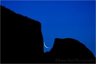 Gary Hart Photography: Rising Crescent, El Capitan and Half Dome, Yosemite