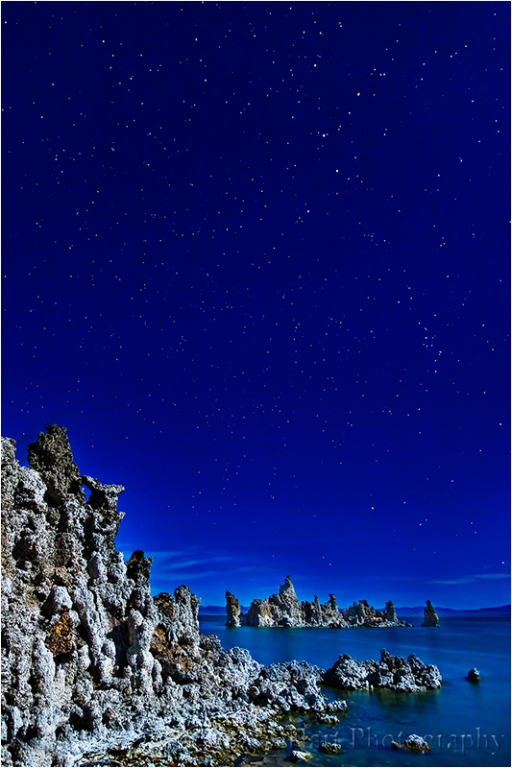 Tufa by Moonlight, Mono Lake