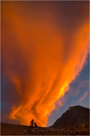 Sky on Fire, McGee Creek, Eastern Sierra