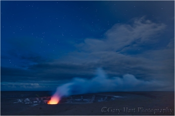 Gary Hart Photography: Kilauea at Night, Hawaii