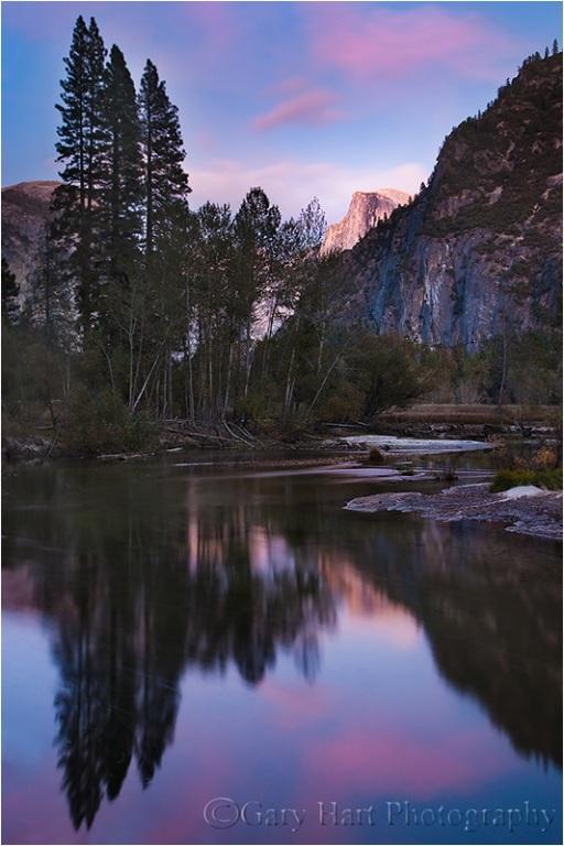 Half Dome Reflection, Merced River, Yosemite