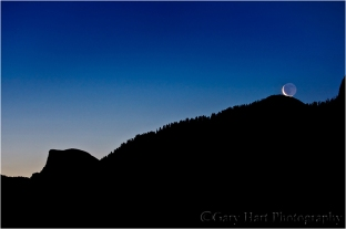Lunar Kiss, Half Dome and Sentinel Dome, Yosemite