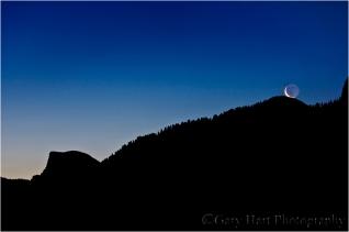 Lunar Kiss, Half Dome and Sentinel Dome, Yosemite
