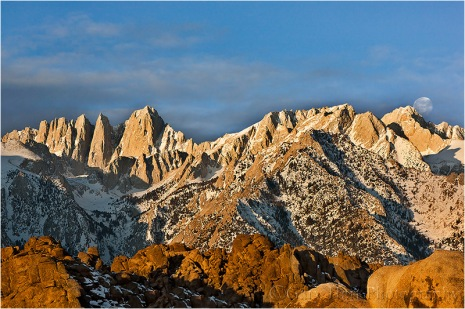 Gary Hart Photography: Moonset, Mt. Whitney, Alabama Hills, California