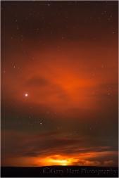 Pu'u O'o Night Eruption, Volcanoes National Park, Hawaii