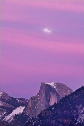 Magenta Moonrise, Half Dome, Yosemite