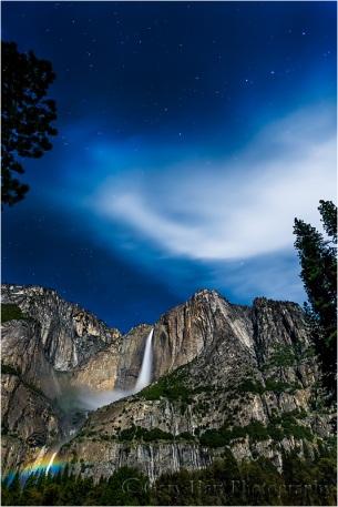 Moonbow and Big Dipper, Yosemite Falls, Yosemite