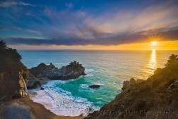 Gary Hart Photography: Sunset, McWay Fall, Big Sur, California