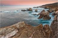 Moonset, Soberanes Point, Big Sur