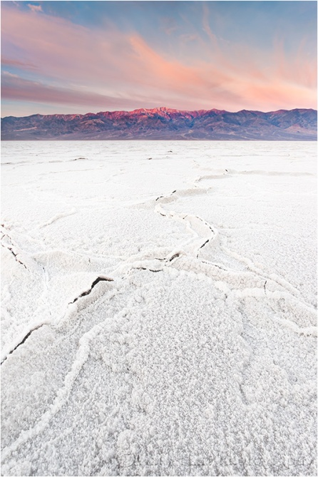 Sunrise, Telescope Peak and Badwater, Death Valley