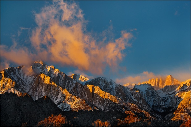 Sunrise, Lone Pine Peak and Mt. Whitney, Eastern Sierra