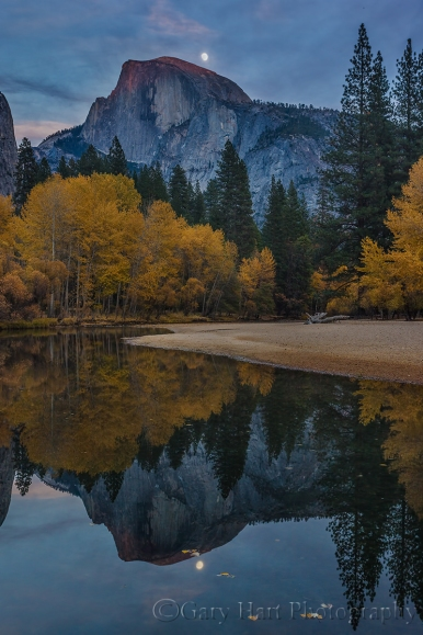 Gary Hart Photography: Autumn Moon, Half Dome, Yosemite