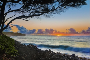 Sunrise in Paradise, Puna Coast, Hawaii