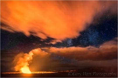 Milky Way and Clouds, Kilauea Caldera, Hawaii