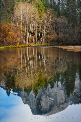 Reflection, Half Dome in the Merced River, Yosemite