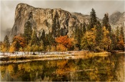 Autumn Reflection, El Capitan and the Merced River, Yosemite
