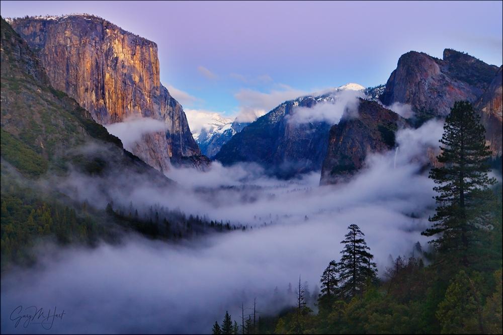 Gary Hart Photography: Twilight Fog, Tunnel View, Yosemite