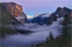 Twilight Fog, Yosemite Valley