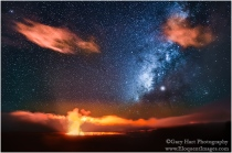 Gary Hart Photography: Kilauea and Milky Way, Hawaii