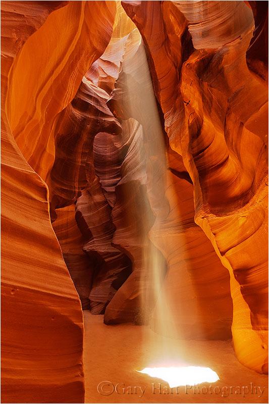 Heavenly Beam, Antelope Canyon, Arizona