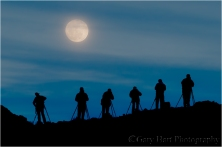 Moonrise Silhouette, Death Valley