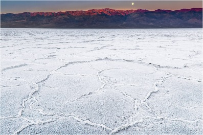 Moonset, Badwater, Death Valley