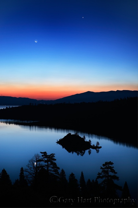 Gary Hart Photography: Moonrise, Emerald Bay, Lake Tahoe