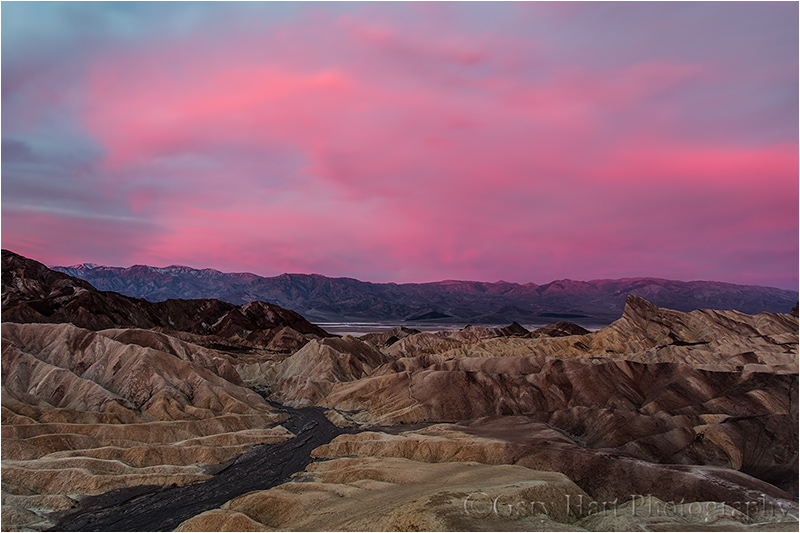 Crimson Sunrise, Zabriskie Point, Death Valley