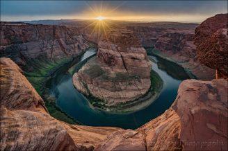 Gary Hart Photography: Sunstar, Horseshoe Bend, Arizona
