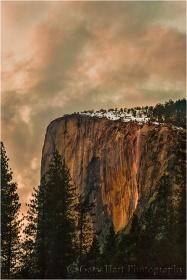 Sunset, Horsetail Fall, Yosemite