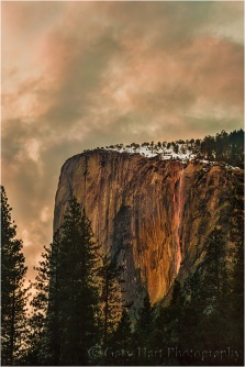 Sunset, Horsetail Fall, Yosemite