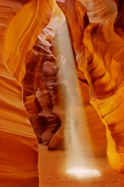 Heavenly Beam, Upper Antelope Canyon, Arizona
