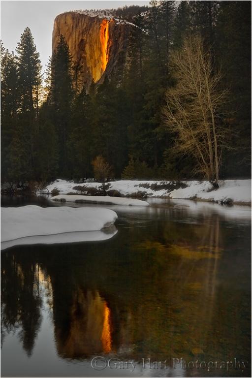 Horsetail Fall Reflection, Yosemite