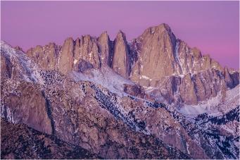 Gary Hart Photography: Dawn Close-up, Mt. Whitney, Alabama Hills, California