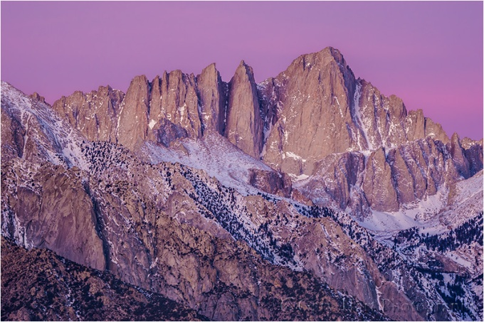 Gary Hart Photography: Dawn Close-up, Mt. Whitney, Alabama Hills, California
