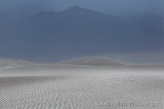 Sand Storm, Mesquite Flat Dunes, Death Valley